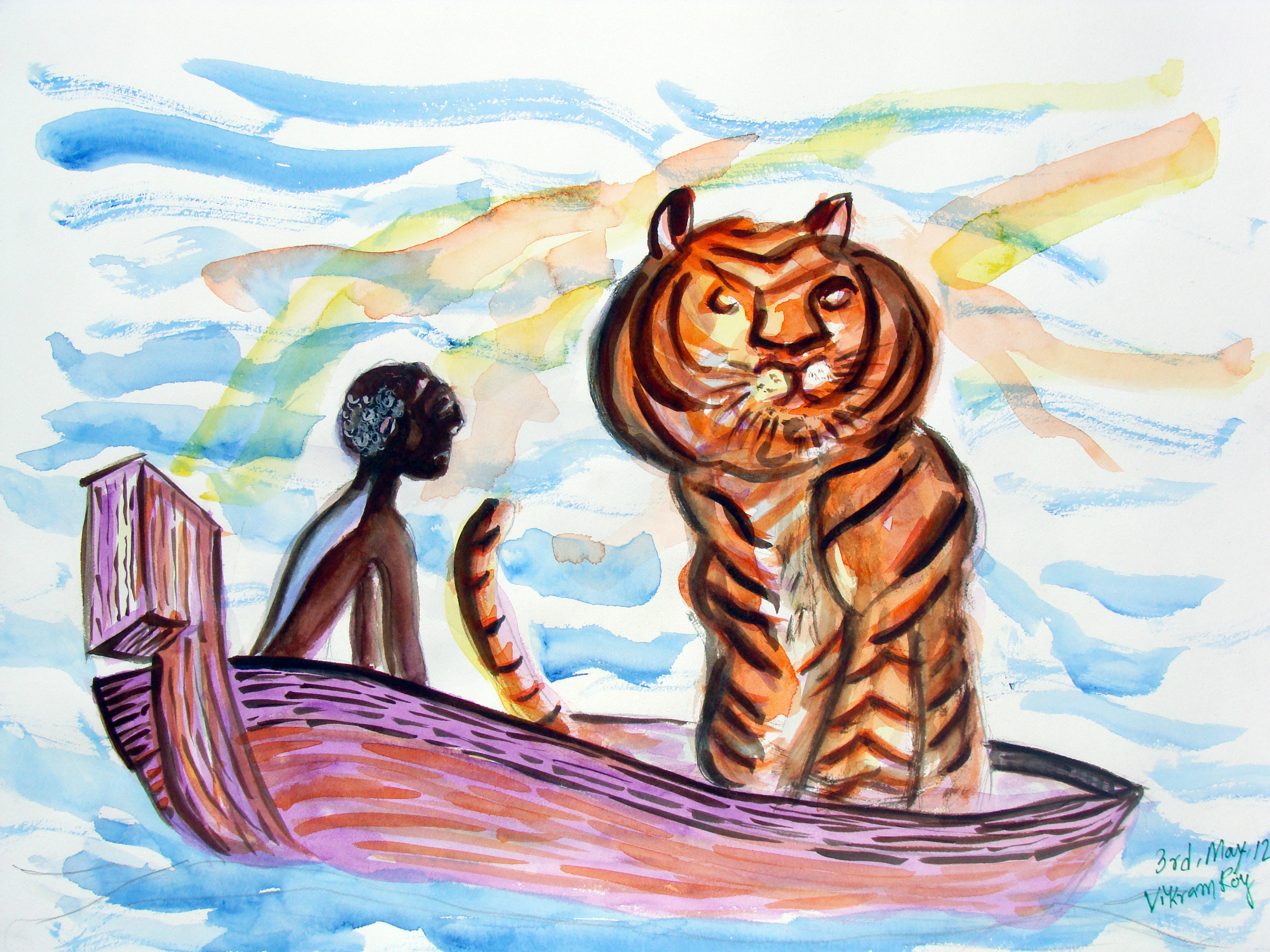 Life of pi water color illustration vikram roy 39 s blog for What is the significance of pi s unusual name