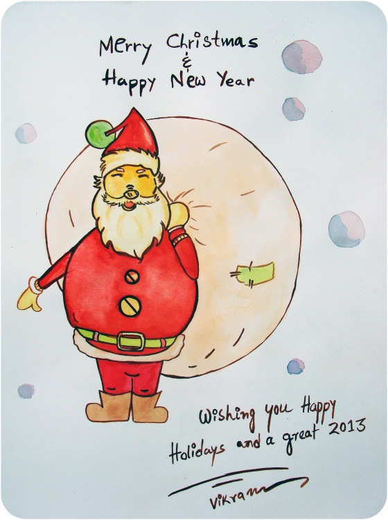 Season's Greetings by Vikram Roy 2012