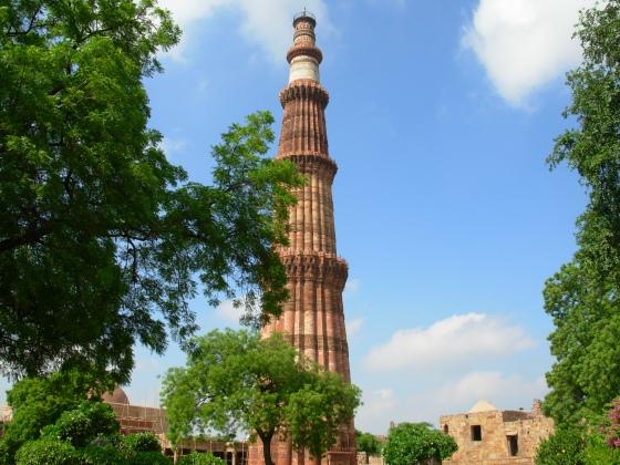 Qutb Minar in New Delhi, India