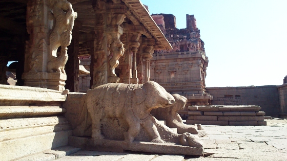 Statues at Virupaksha temple, Hampi Photographed by Vikram Roy © Copyright 2013