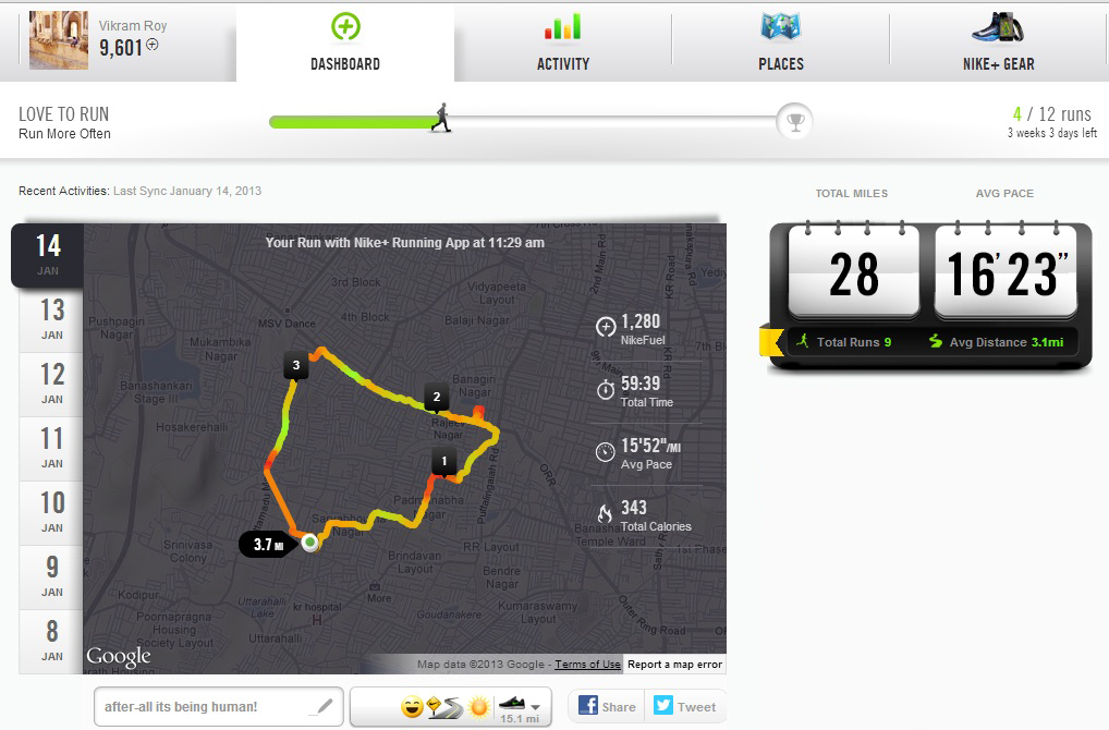 Mejor El respeto Prohibición  What is Nike Plus Running App? How it Works? | Vikram Roy's Blog