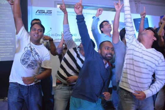Our dance moved the audience, I am in the middle. Photo Credit : Indiblogger 2015