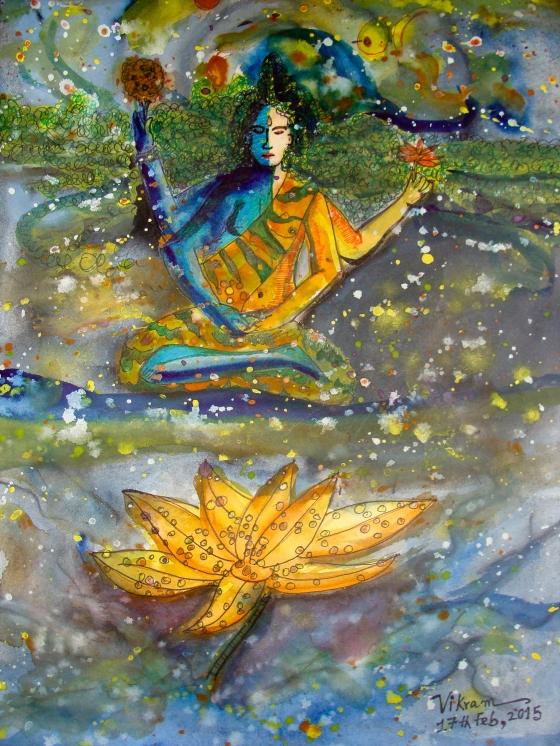 #MahaShivaratri, A Painting by Vikram Roy © 2015