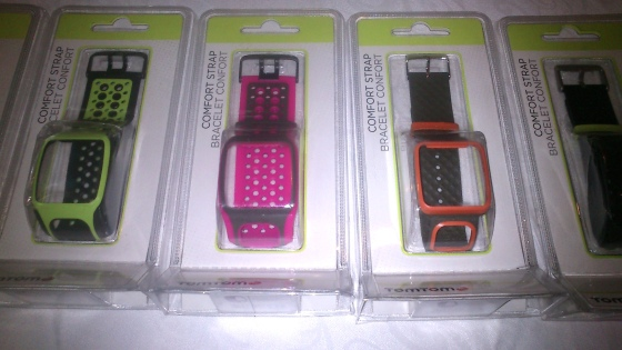 TomTom Multi Sport Watches having alternative strap feature in different colours of choice. Photo credit Vikram Roy 2015