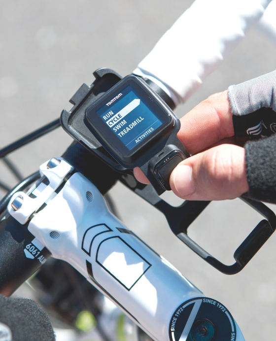 TomTom Sport Watch you can instal in your bike. Photo: TomTom 2015