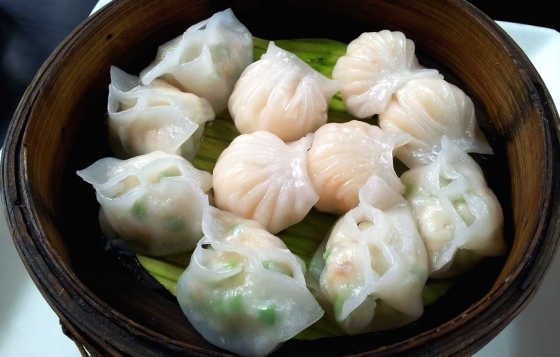 I loved the fresh steamed momos at Shiro.