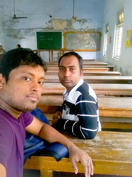 Taken with Lumia Selfie, with Arnab Mondal my class friend.