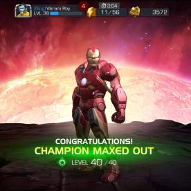 Screenshot: Iron Man Champion Rank Up Maxed Out