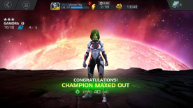 Screenshot: Gamora Champion Rank Up Maxed Out